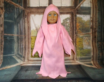 Halloween Costume 18 inch doll clothes Pink Ghost spirit banshee gown cap american made girl boy
