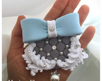 Wedding Brooch, Bridal Brooch, Wedding Accessory, Wedding Jewelry, Brooch With Pearls And Crystals, Bridal Bow Brooch, Wedding Corsage