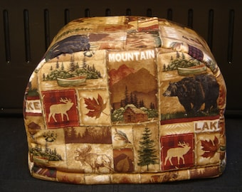 ARTI Toaster COVER,  Forest, Lake, Bears  for 2 slice Toastmaster with bagel setting