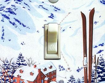 SKI ALTA vintage ski poster Switch Plate (single or double)  ***FREE Shipping***
