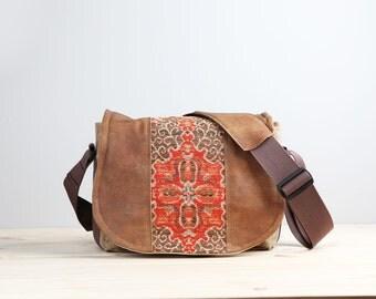Paprika Southwestern Leather Camera Satchel Bag DSLR- PRE-ORDER
