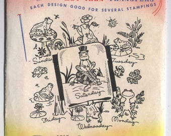 Various ANIMAL Designs - Hot Iron Embroidery Transfers - Aunt Martha's - PARTIALLY Cut & Used in Opened Packaging - On Sale!