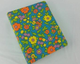 Vintage 1960s Flower Power Kitchen Secretary Organizer Binder Address Book Envelope System National Blank Book USA