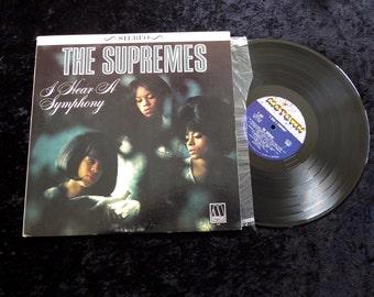 The Supremes I hear A Symphony  LP 1965  Motown Vinyl Lp Record Album Lp  Very Clean 643 1st pressing