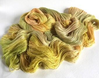 Evangeline Silk Bamboo Lace Yarn. Acid Sunset
