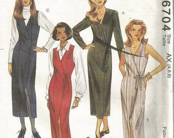McCall's 6704  Easy Dress or Jumper Pattern SZ 4-8