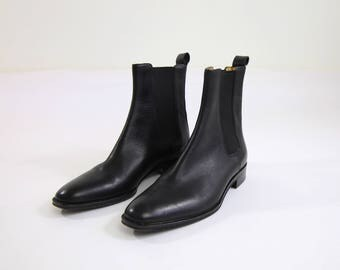 VINTAGE Gucci Ankle Boots Black Leather Size 5.5