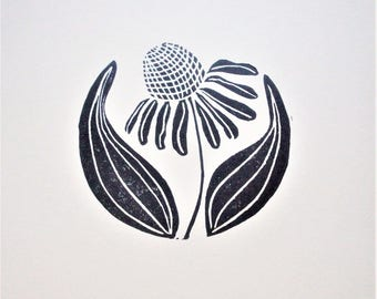 Prints--Cone Flower (or Echinacea) in the Round