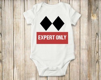 Expert, Onesie, Bodysuit, Skiing, Baby clothing, Childrens clothing
