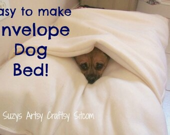 pattern, digital pattern, sewing pattern, dog bed, dog, bed, fleece, easy to sew