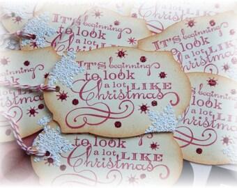Christmas Tags -It's Beginnning to Look Like Christmas - Snowflake - Gift/Hang Tags (8)