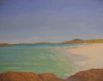 Isle of Barra ..Tangasdale beach  Outer Hebrides...oil painting