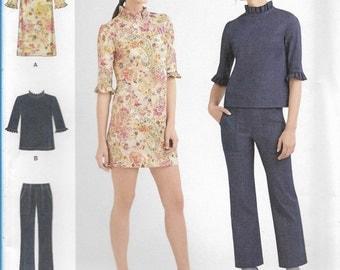 Simplicity Sewing Pattern 8264 P5 Misses' Mini-Dress, Top, & Pants New UNCUT