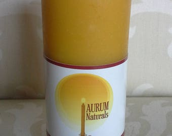 "Handmade 100% Beeswax Candle - 4"" column pillar"