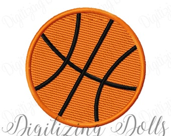Mini Basketball Solid Fill Machine Embroidery Design Digital File 0.5x0.5 1x1 1.5x1.5 2x2 2.5x2.5 3x3 Sports Ball INSTANT DOWNLOAD