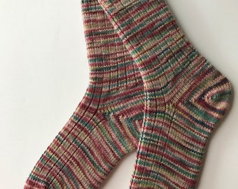 Hand Dyed Wool Socks, Asian Trends