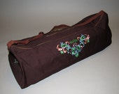 Yoga Mat/ Block Bag with Embroidery- larger size