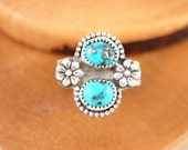 Turquoise Flowers Ring