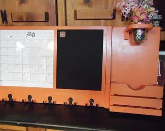 A message Center--Message Board--Magnetic Calendar--Utility Hooks