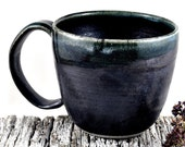 Coffee Cup Soup Mug Ceramic Handmade Pottery Black Tea Cup Dawn Whitehand on Etsy