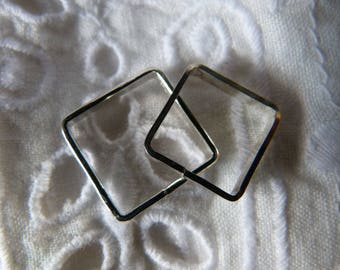 Sterling Silver Square Ring size 8.5
