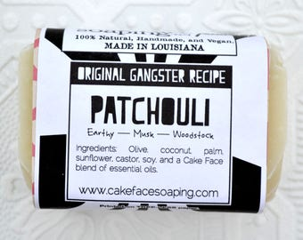Patchouli handcrafted natural vegan soap bar natural soap bar face wash body wash handcrafted soap bar hippie soap masculine soap woodsy bar