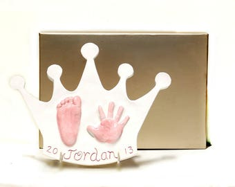 Personalized Girl Nursery - Baby Girl Nursery Decor - Baby Crown Wall Art - Nursery Keepsake - Baby Girl Art - Crown for Baby Girl - Nursery