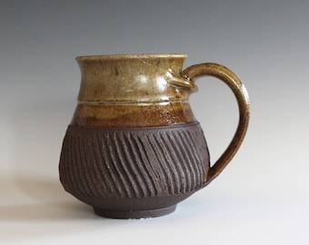 Pottery Coffee Mug, 13 oz, unique coffee mug, ceramic cup, handthrown mug, stoneware mug, pottery mug, ceramics and pottery