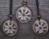 Viking Compass Pendant, Amulet. Vegvisir Necklace, Icelandic Sign Post, Viking Jewellery, LARP, Asatru, Viking good luck, Safe Travel,