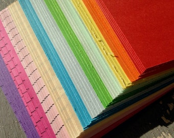 Paper Squares 80mm, multicoloured - for origami, decoupage, scrapbooking and crafts