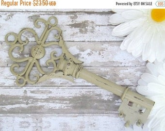 HOLIDAY SALE Large Decorative Key /  Wall Decor/ Skeleton Key/ Metal Key / Vintage Style Key /  Shabby Chic Key