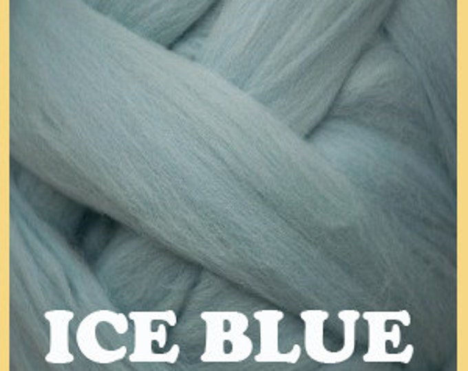Ashland Bay Blue 21.5 micron Merino Wool dyed fiber.