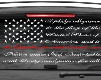Pledge Decal Etsy