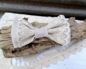 Rustic Wedding Dog Bow Tie, Wedding Pet Attire, Dog Accessories