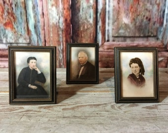 3 Vintage framed opalotype photographs
