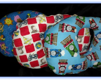 "Travel Pillow - Car Seat Neck Support - Infant to Adult Sizes - ""Cars"""