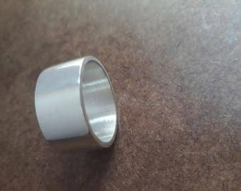 Wide Band, Ring, sterling silver, unisex ring, wedding Band, 10mm wide, groom ring, large ring, chunky band