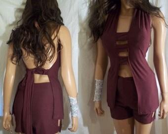 Swim suit, Bathing Suit, Short Sets, Burgundy Swim Wear, Activewear, Burgundy Bathing Suit
