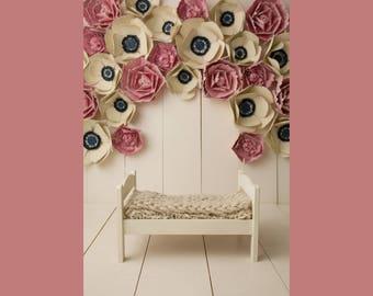 "Digital Backdrop- ""Flower Explosion-Bed""- Newborn Flower Background"