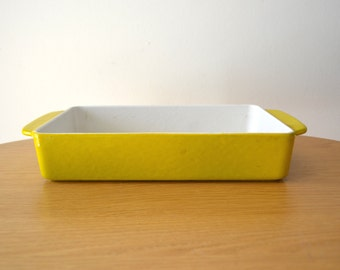 Mid Century Yellow Enamelware Small Casserole by Michael Lax Design for Copco