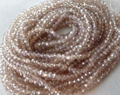 "18"" 4mm Champagne Faceted Crystal Rondell Beads, 4mm x 3mm, 18"" strand, approx. 150 pieces"