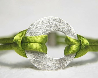 Sterling silver round bracelet