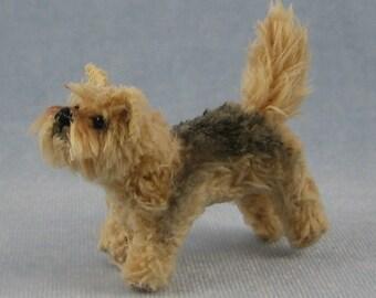 Yorkie Soft Sculpture Miniature Dog by Marie W. Evans