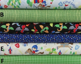 Baby Boy Bedding, Crib Bedding, Toddler Bedding, Nursery Set, Castles Dragons, Boy, Crib Skirt, Crib Sheet, Changing Pad Cover, Bumper Pads