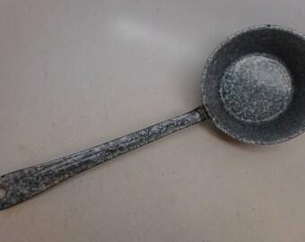 Vintage Enamelware Ladle - Enamelware Scoop - Enamelware Dipper