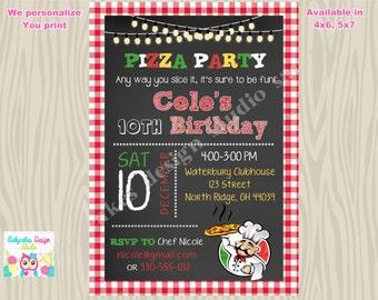 Pizza Party Invitation Invite Pizza Birthday Party invitation Pizza making Party invitation tween adult pizza party printable diy digital