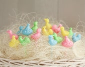 Retro Easter Picks - Miniature Plastic Spring Birds Cupcake and Craft Picks, 16 Pcs.