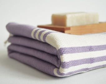 SALE 50 OFF/ BathStyle / No14 Lilac / Turkish Beach Bath Towel Peshtemal / Bath, Beach, Spa, Swim, Pool Towels