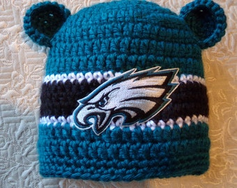 Eagles Baby hat for Newborn to 18 months- Philadelphia team colors