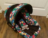 RESERVED listing ----Baby Avengers super hero infant car seat cover with black  Reserved for Lucy payment 2